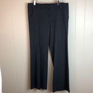 3/$27 NY & Co Grey Wide Leg Career Slacks